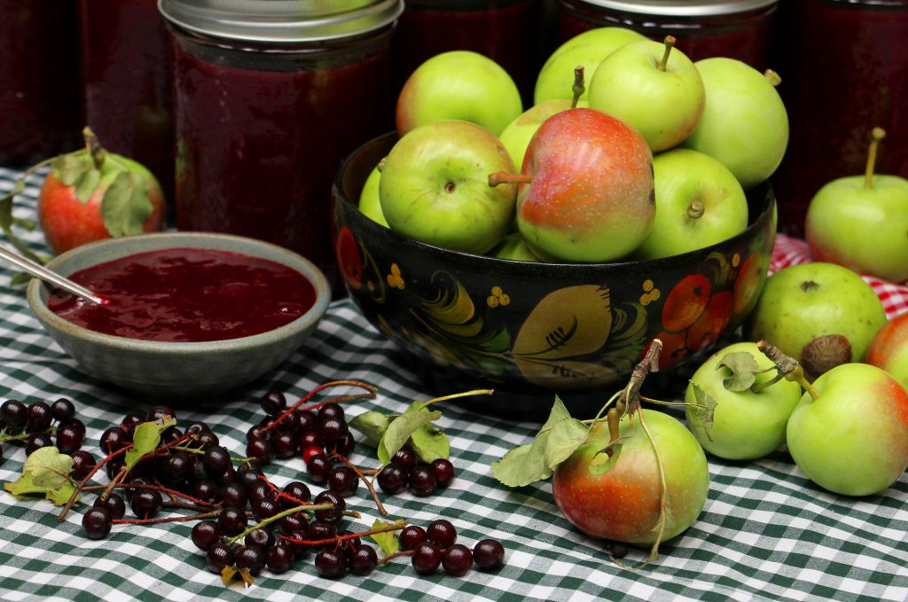 Chokecherry apple jam