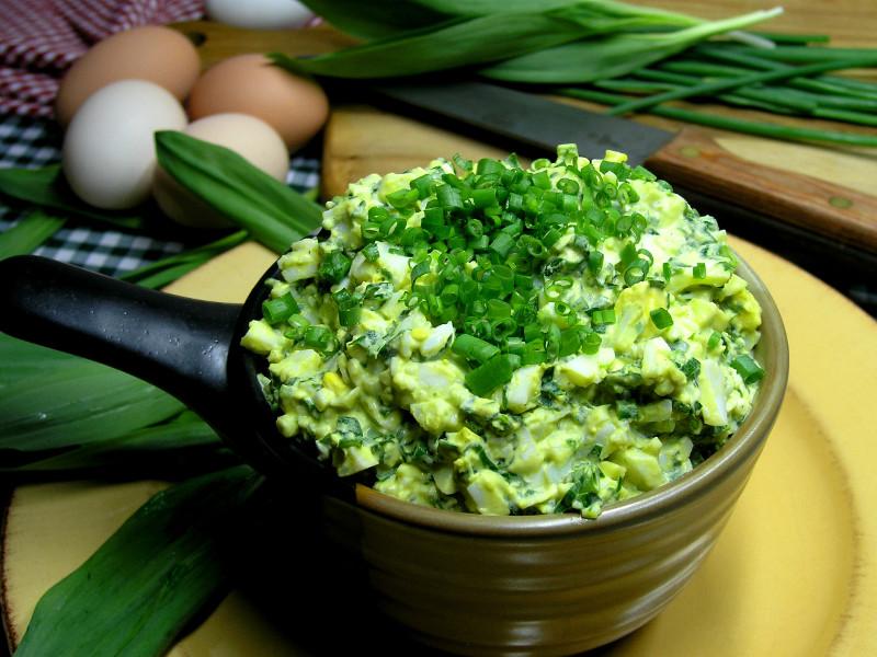 Ramsons Egg Salad